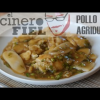 POLLO AGRIDULCE CON LENGUAS DE ARROZ