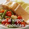 Cómo hacer salmón al vapor. Receta con microondas.