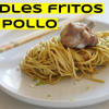 One wok to rule them all: Noodles fritos con pollo