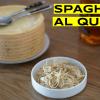 Espaguetis al queso flambeado
