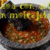 Nachos con salsa en molcajete y Taqueria Vallarta 3033 24th St, San Francisco, CA