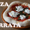 Pizza de burrata fresca
